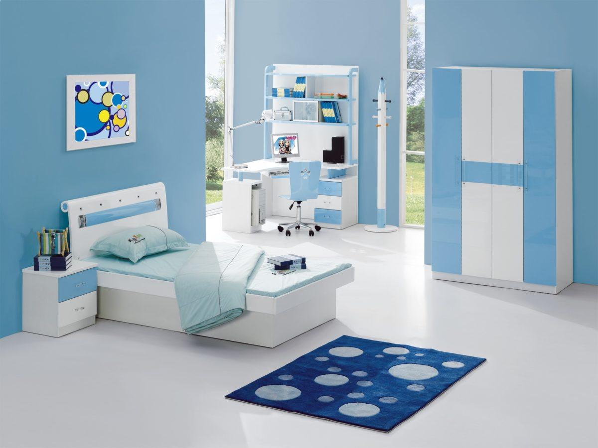 camera letto celeste