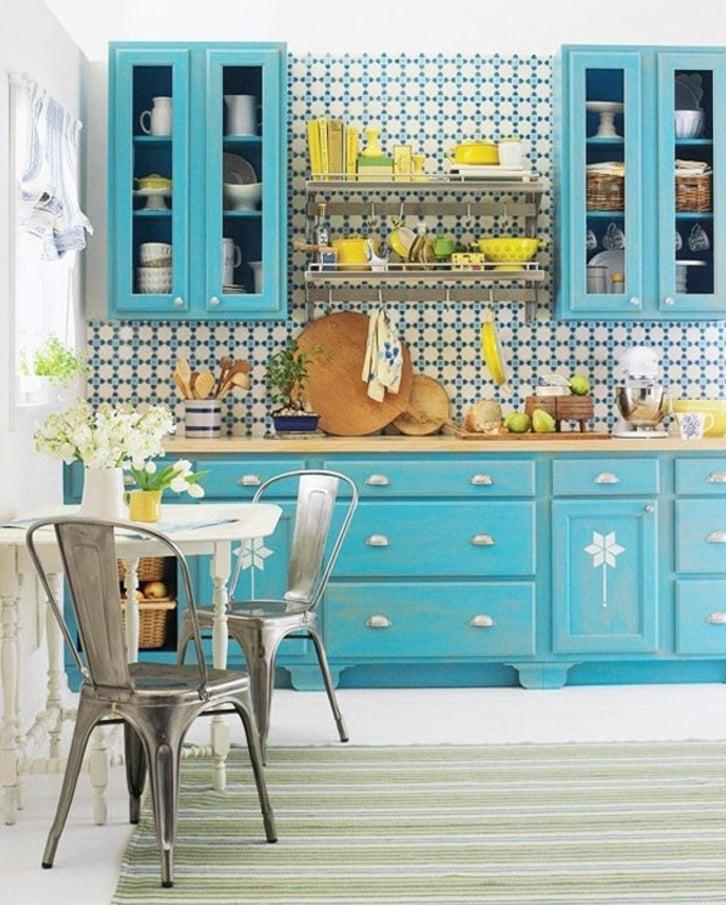 colore-turchese-mobili-cucina