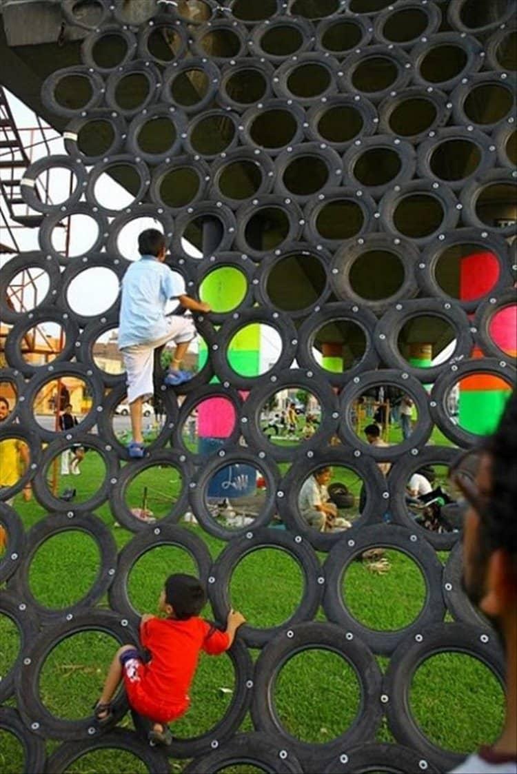 riciclare-penumatici-gioco-arrampicata