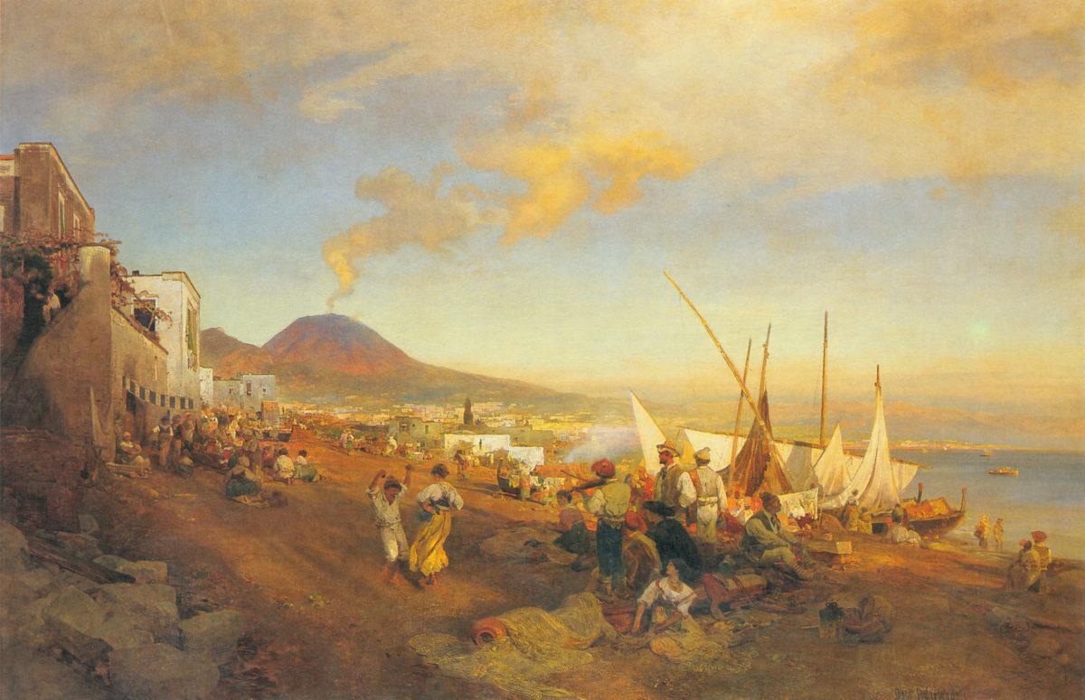 Am Strand von Neapeloil on canvas100 x 151 cm