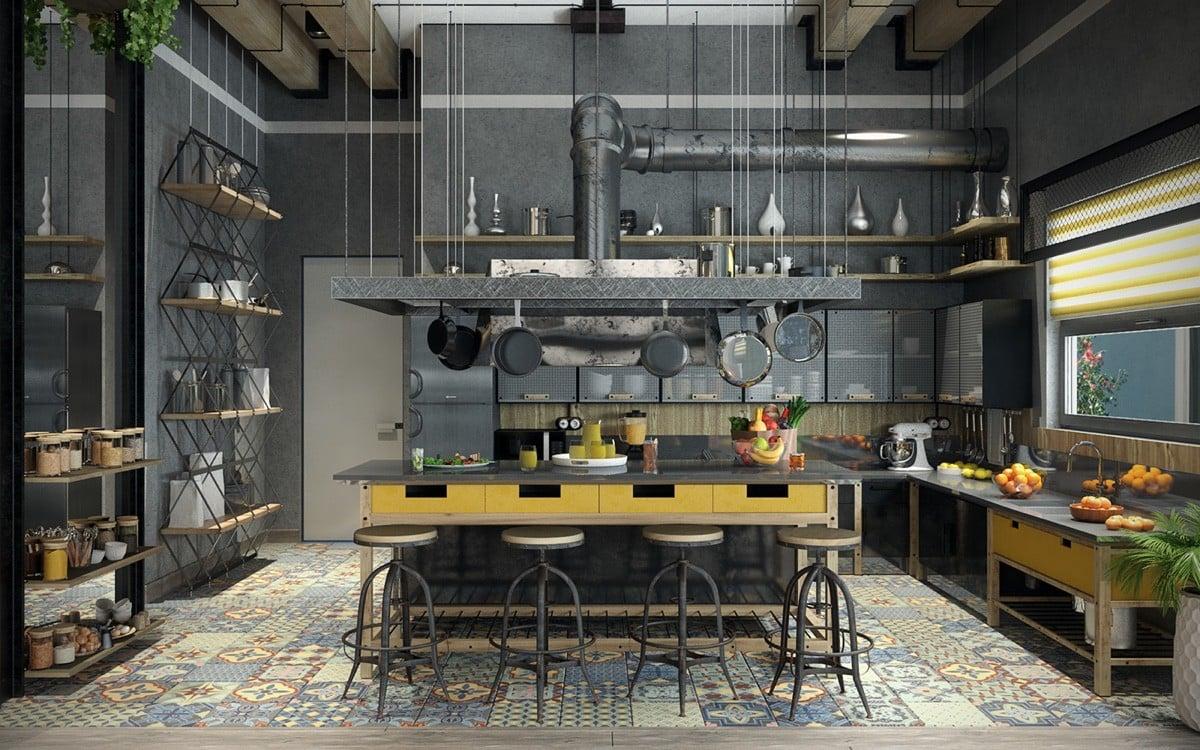 cucina-stile-industriale