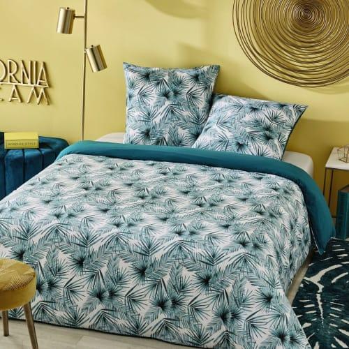 parure-da-letto-in-cotone-motivi-foglie-tropicali-220x240-maisons-du-monde