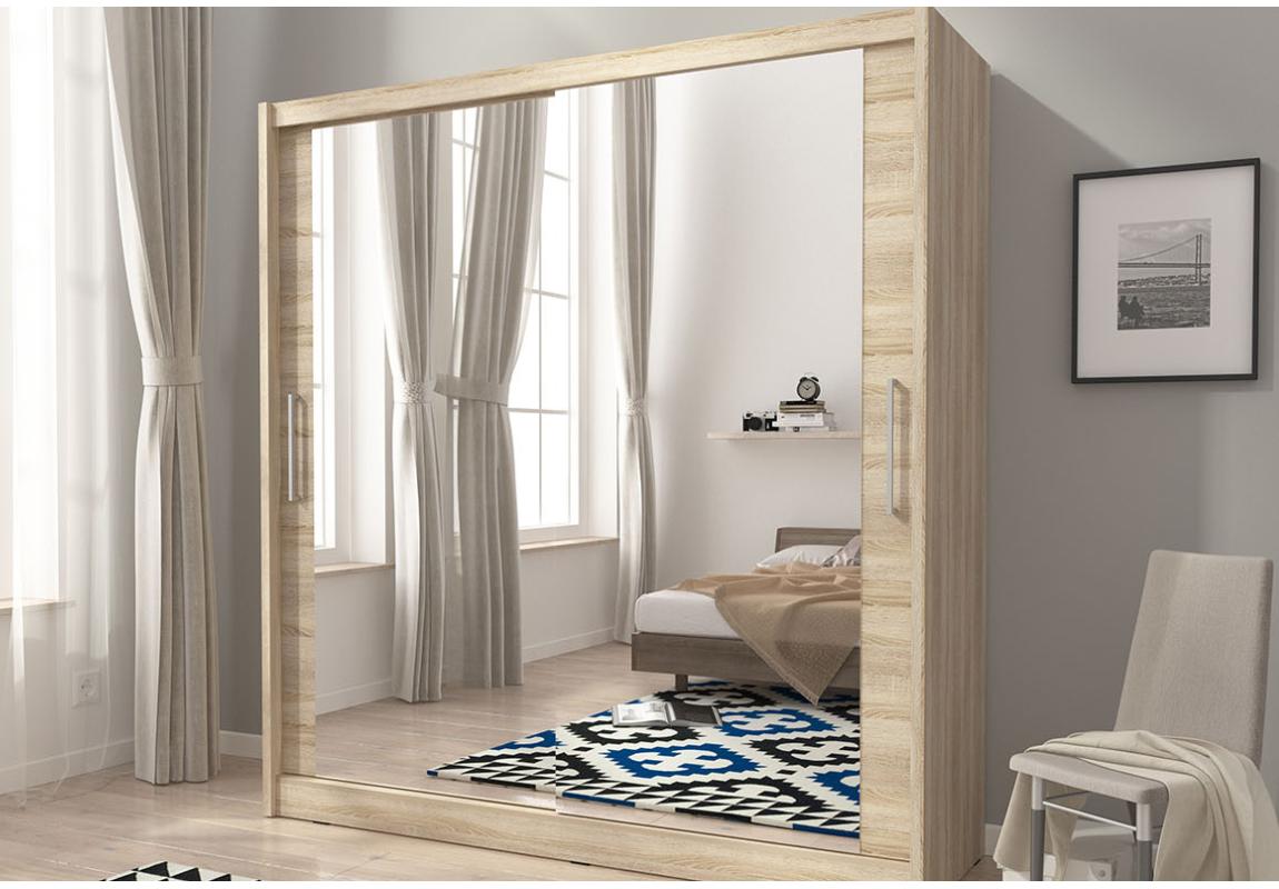 Camera-da-letto-armadio-specchiato