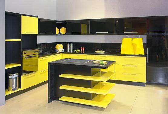 Cucina-gialla-nera