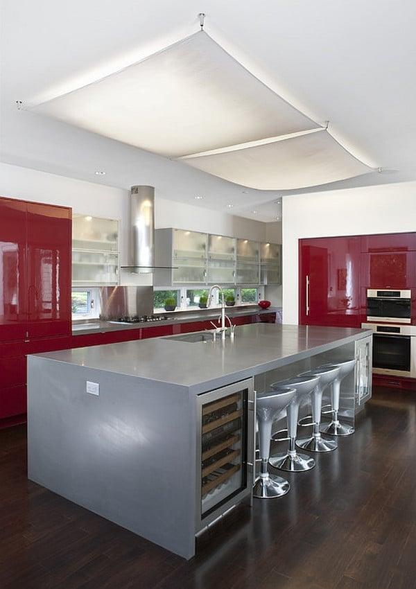 Cucina-rossa-acciaio