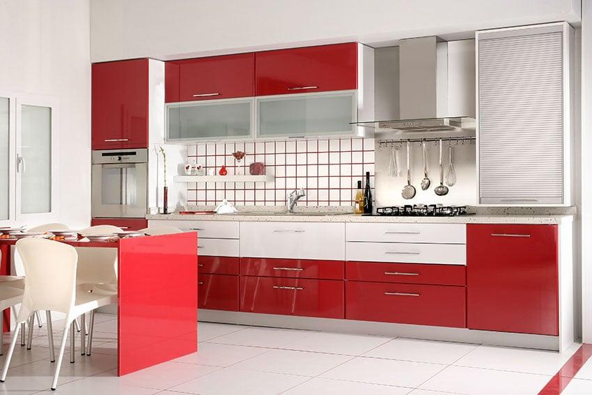 Cucina-rossa-bianca