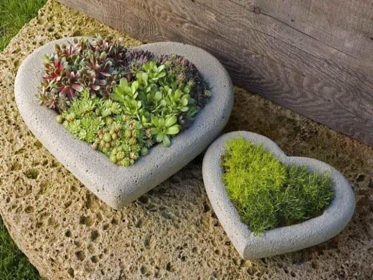 piante giardino vasi a cuore