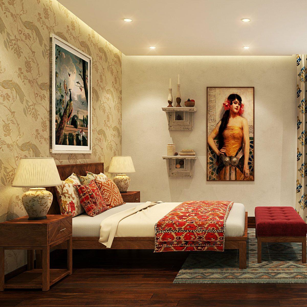Idee suggestive per la camera da letto in stile etnico