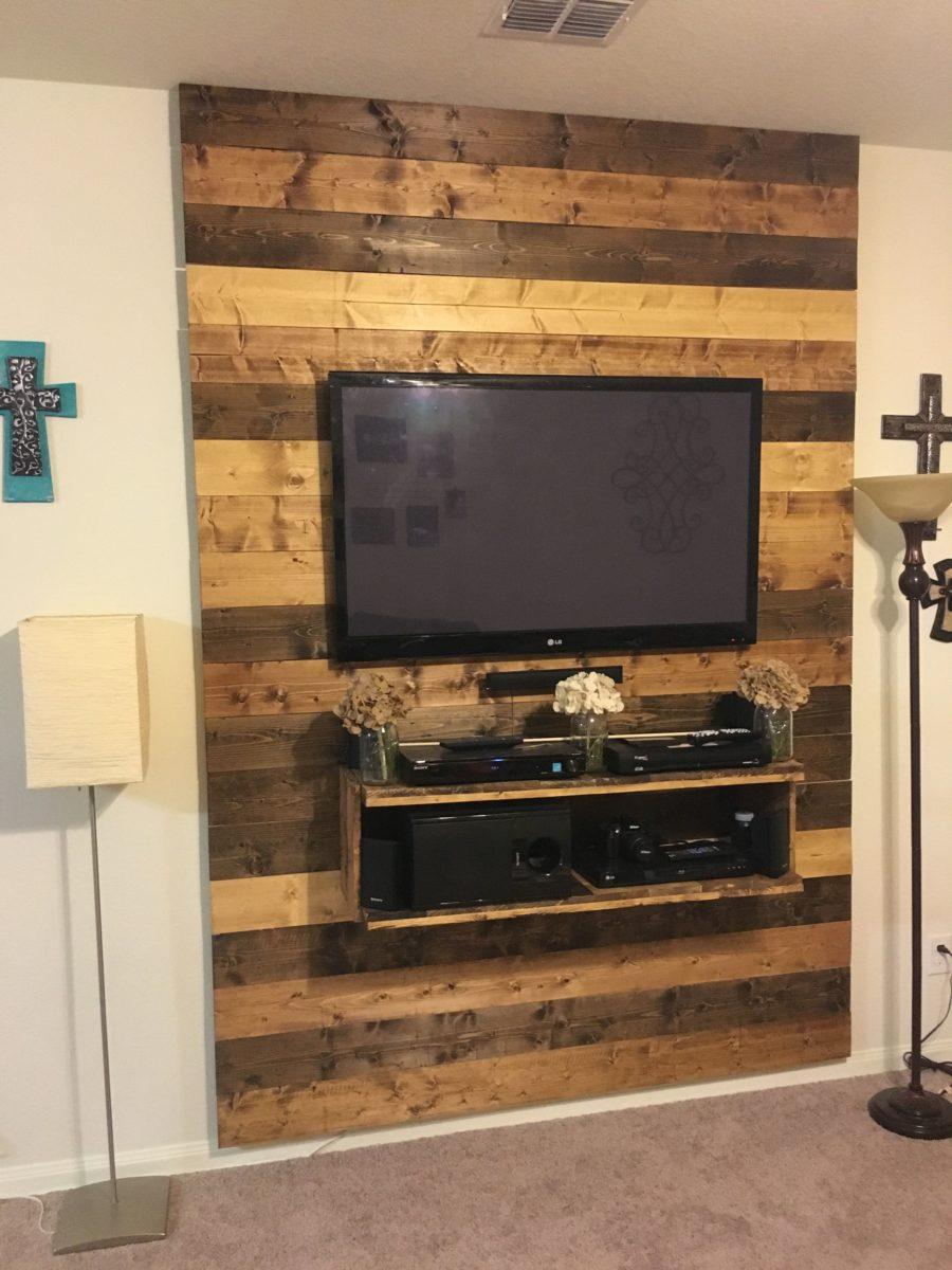 abbellire-parete-tv-legno