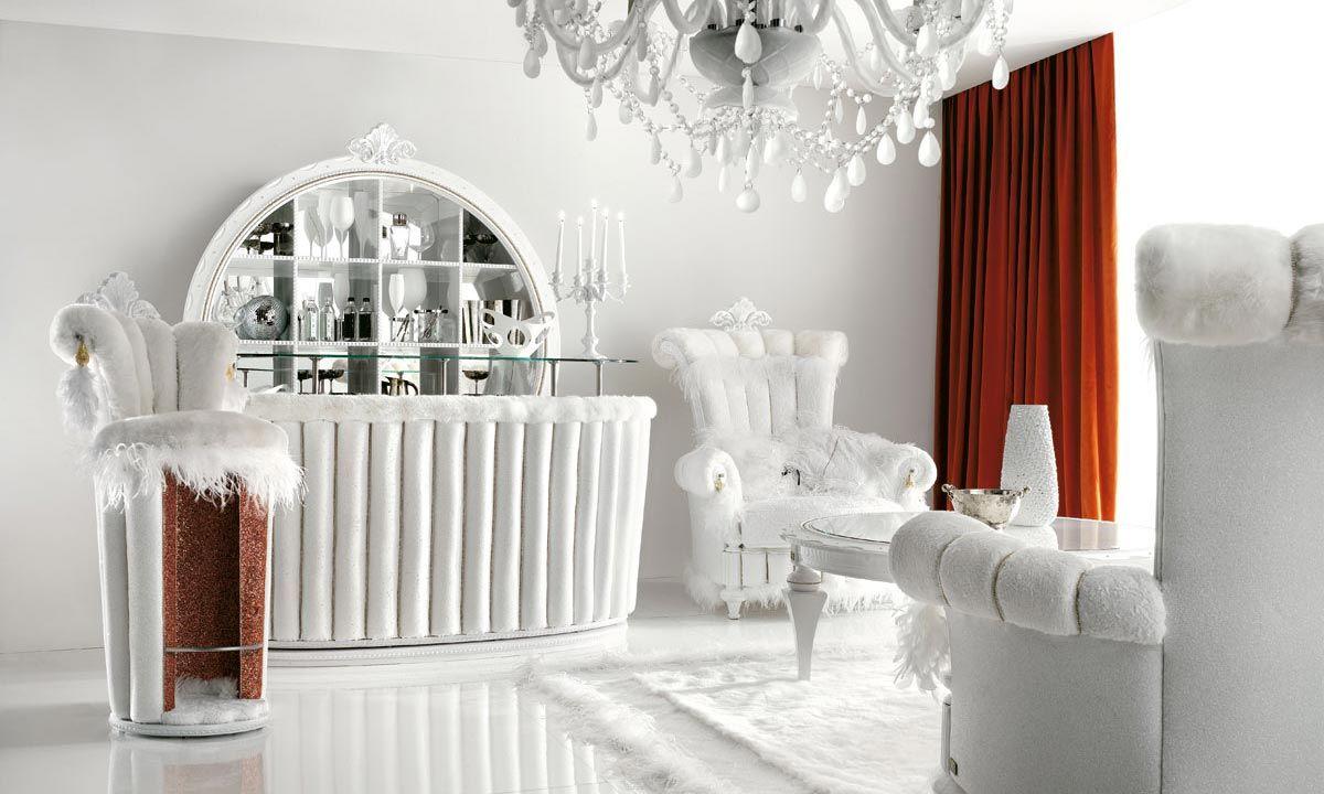 arredare-soggiorno-bianco-rosso-classico