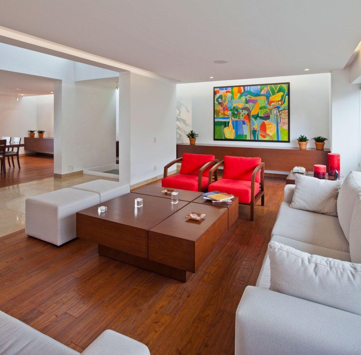 arredare-soggiorno-bianco-rosso-contemporaneo