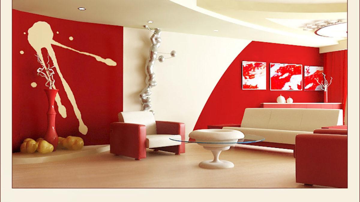 arredare-soggiorno-bianco-rosso-futurista