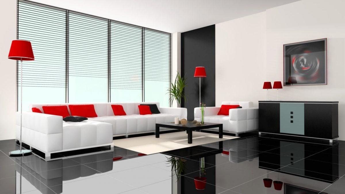 arredare-soggiorno-bianco-rosso-moderno