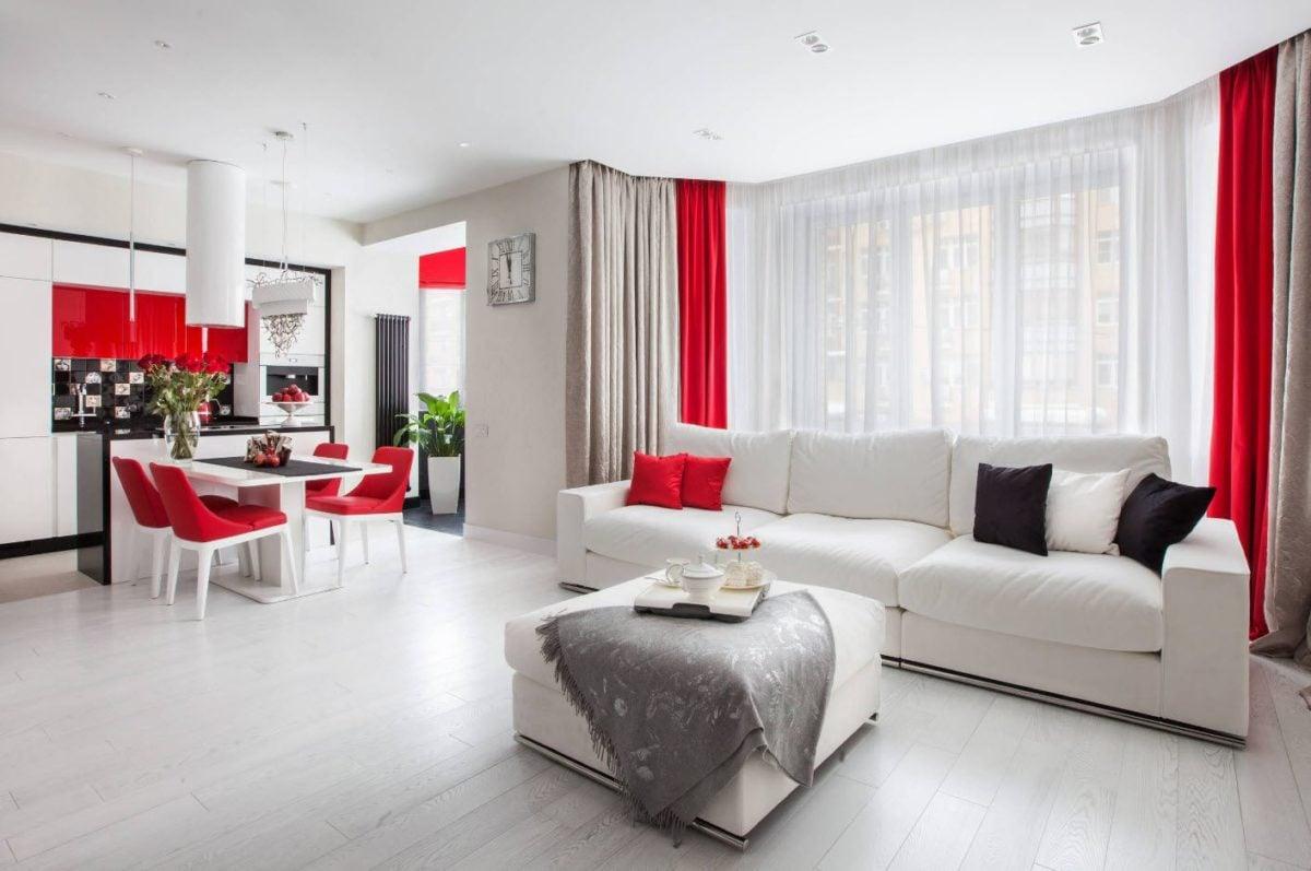 arredare-soggiorno-bianco-rosso-open-space