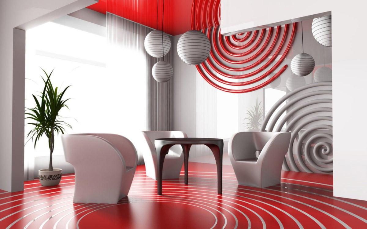 arredare-soggiorno-bianco-rosso