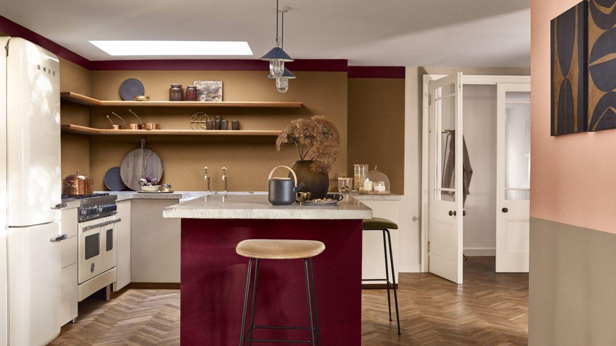 colore-borgogna-cucina-mobile