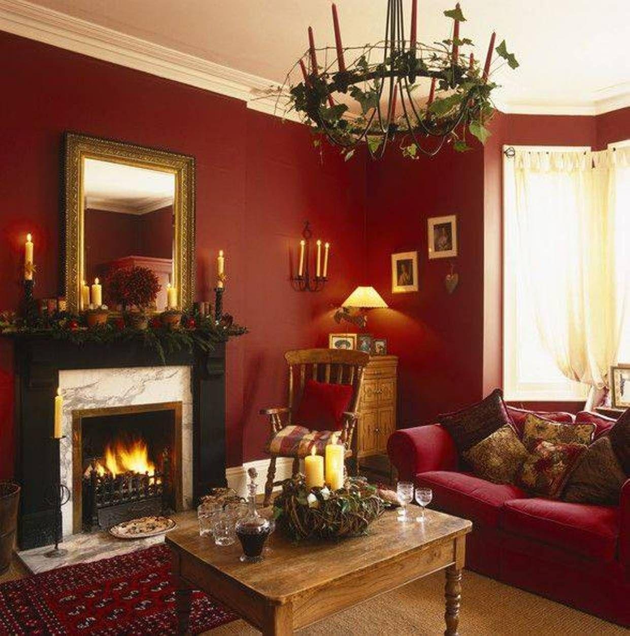 colore-borgogna-soggiorno-classico