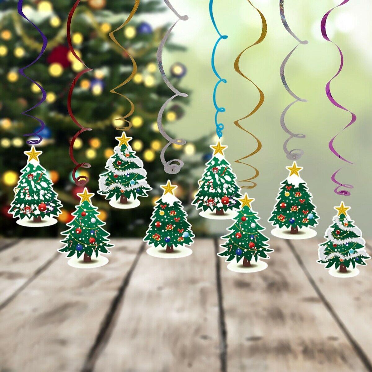 decorazioni-natalizie-carta-alberelli-pendenti
