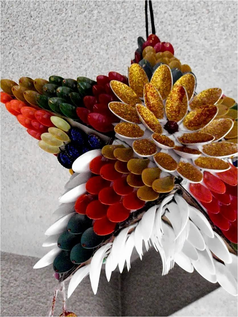 decorazioni-natalizie-plastica-cucchiai-fiore