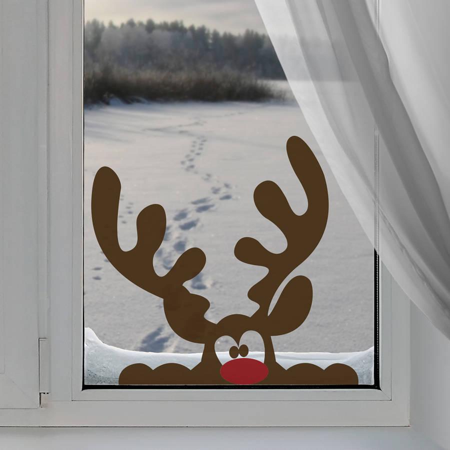 decorazioni-natalizie-renne-adesivo-finestra