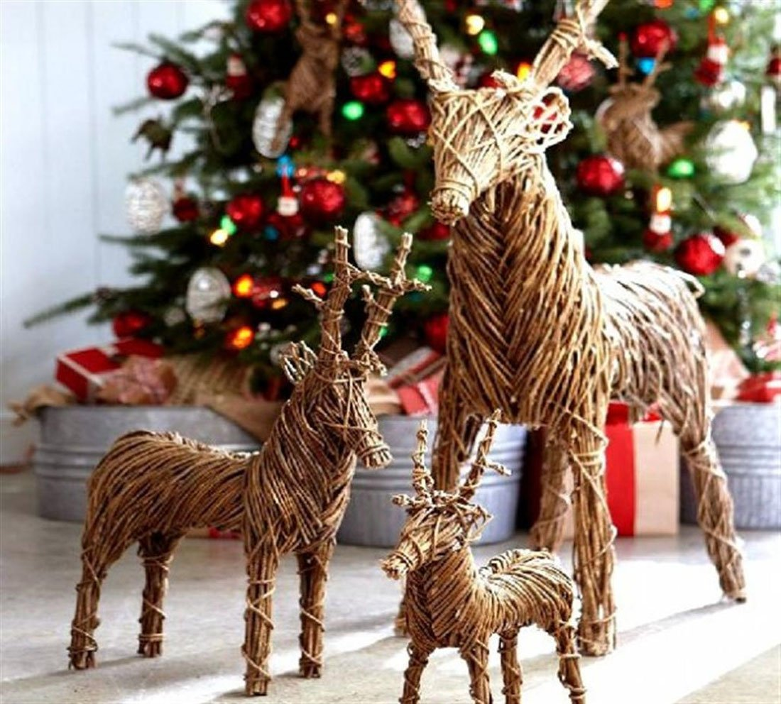 decorazioni-natalizie-renne-rattan