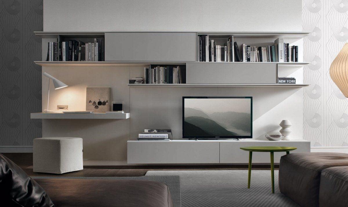parete-attrezzata-laccata-soggiorno