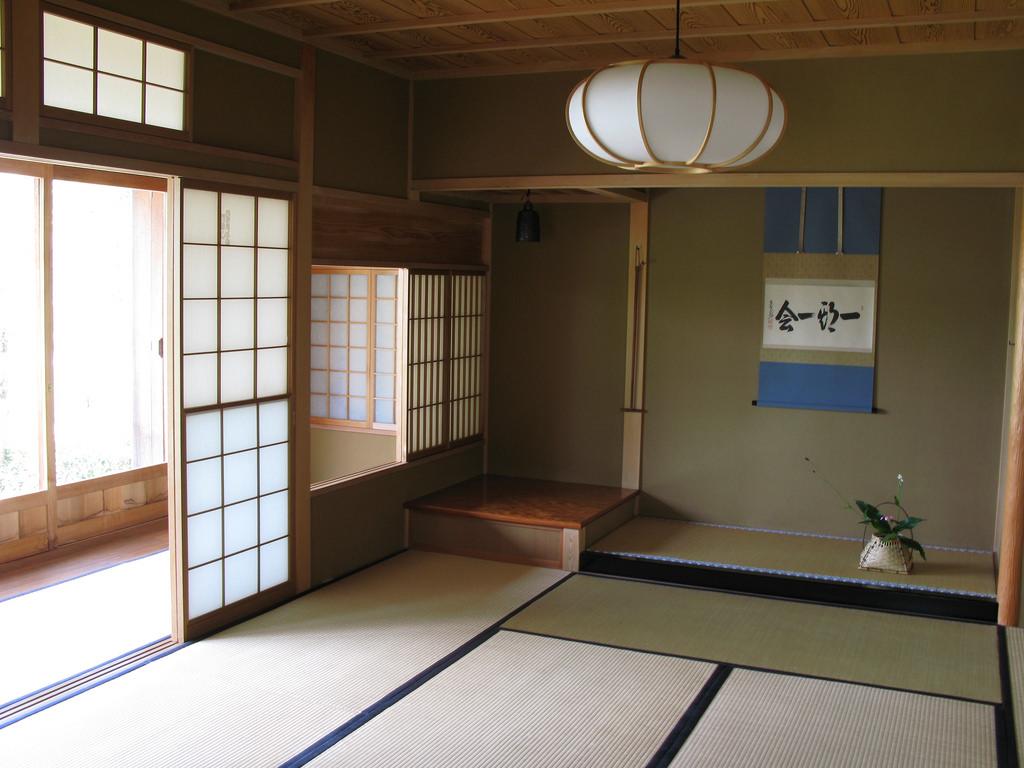 soggiorno-stile-giapponese-lampadario