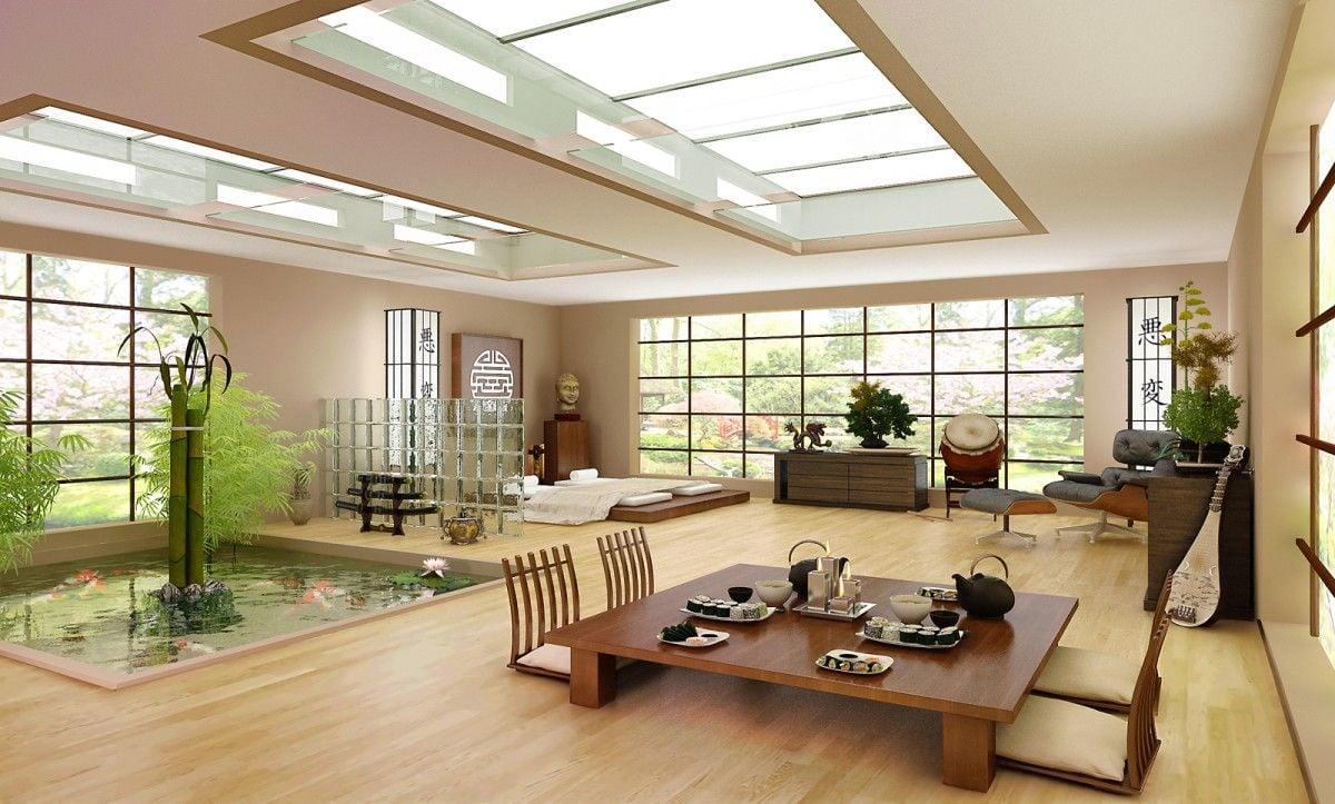 soggiorno-stile-giapponese-open-space
