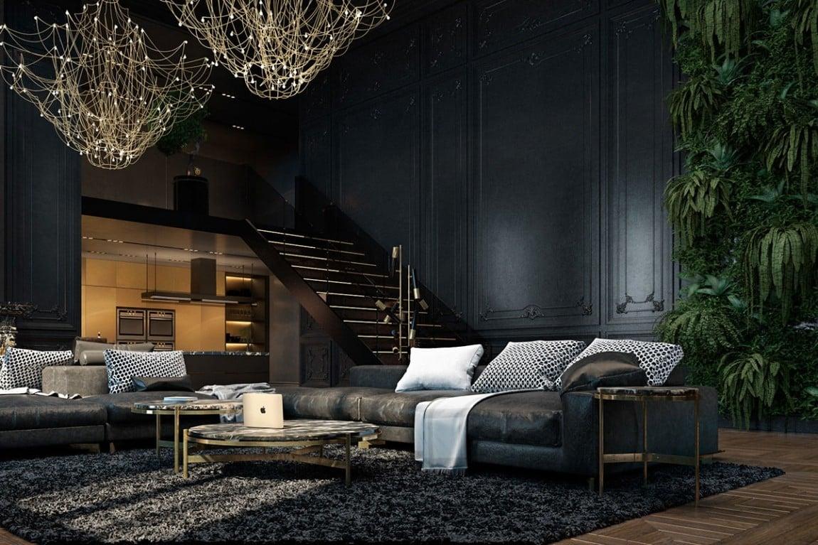 soggiorno-total-black-loft