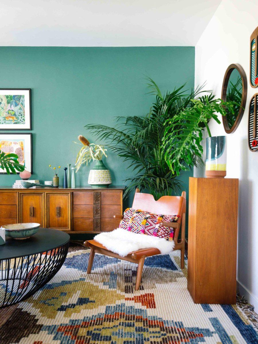 color-verde-caraibi-soggiorno-parete