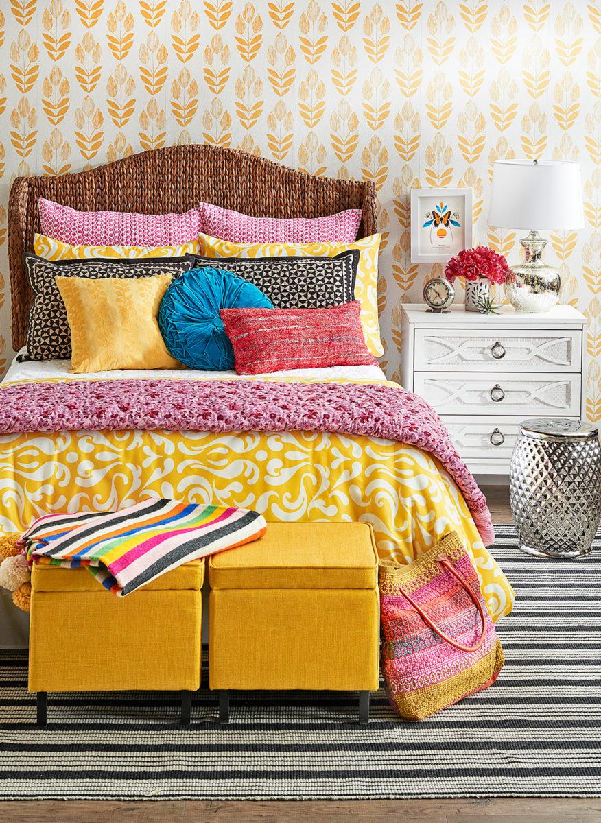 colore-ambra-camera-letto-tessuti