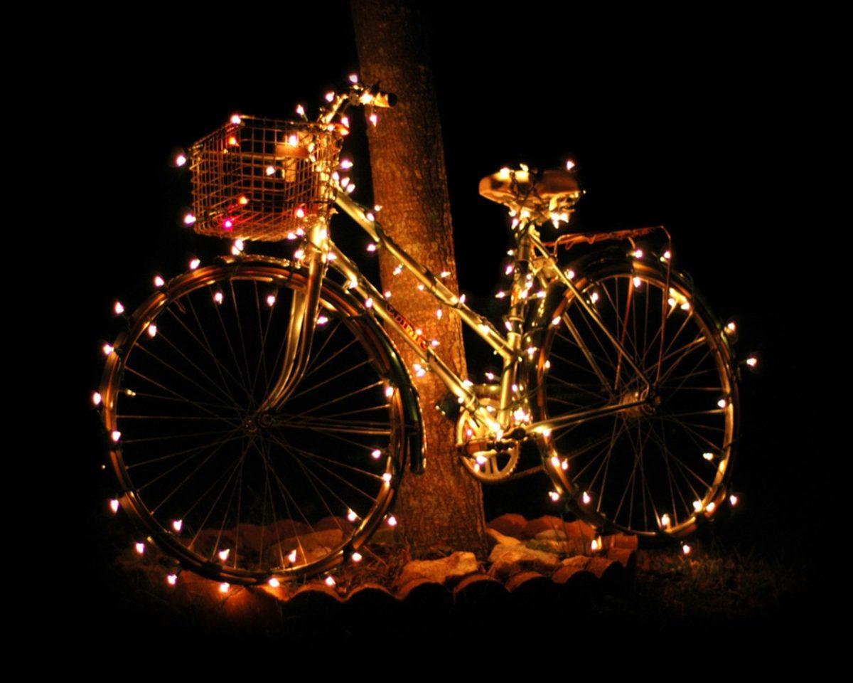 decorazione-natalizia-bici-illuminazione-giardino