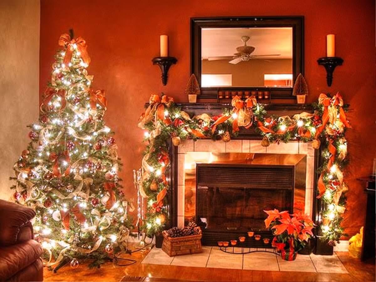 decorazioni-natalizie-arancioni-salotto
