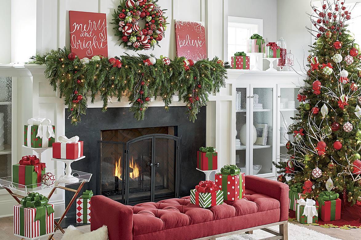 decorazioni-natalizie-divano-panca