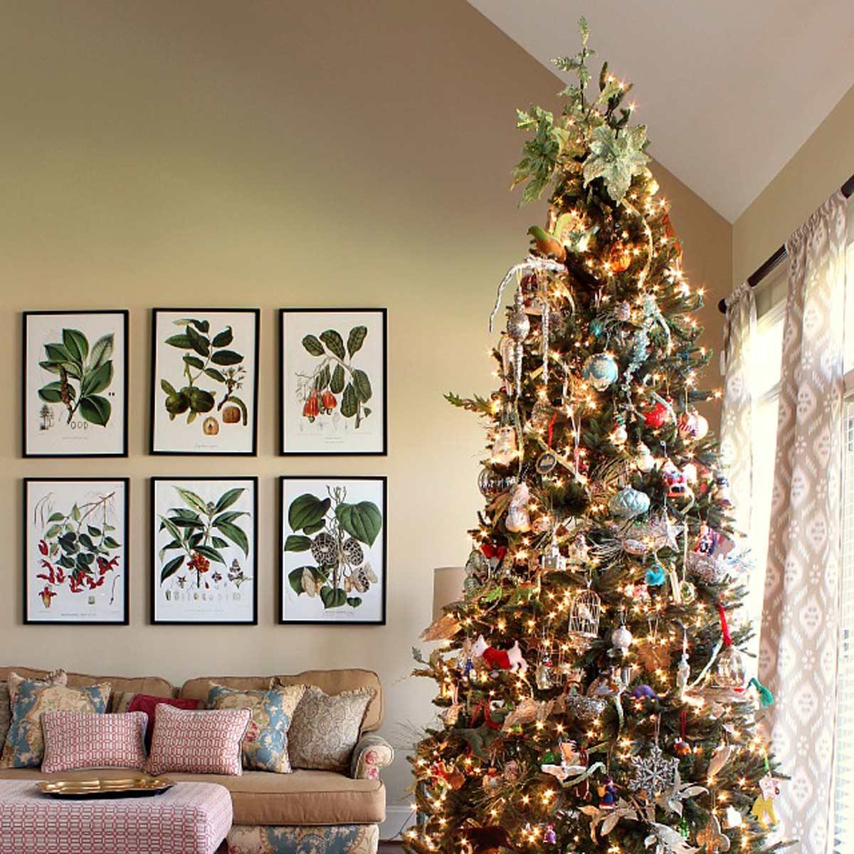 decorazioni-natalizie-divano-quadri-piante