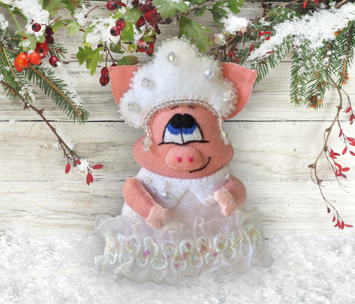 decorazioni-natalizie-pannolenci-maialino