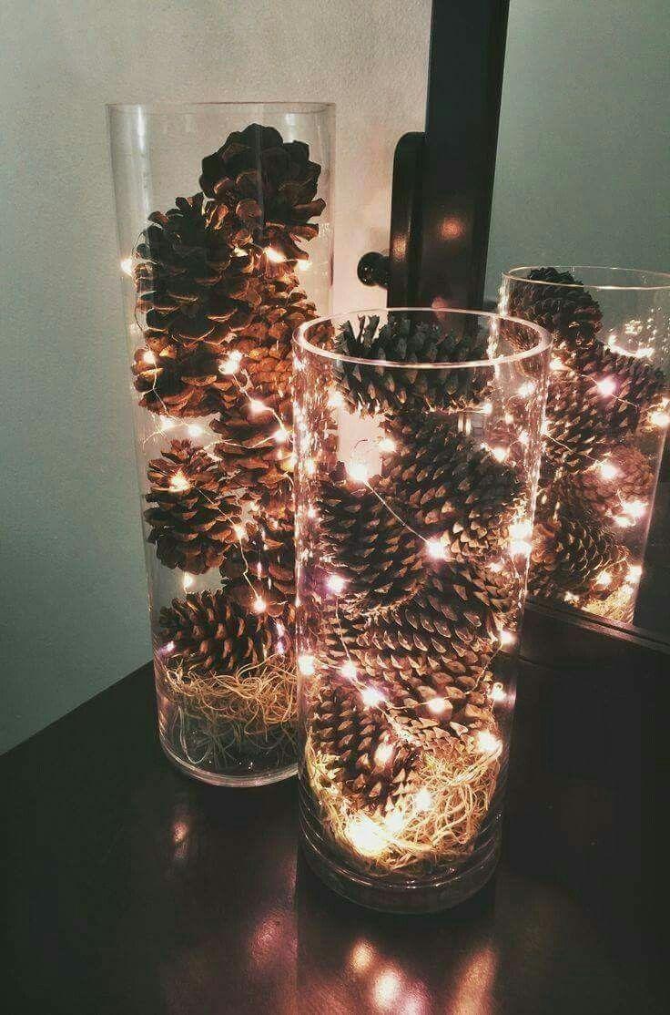 decorazioni-natalizie-pigne-bicchiere-illuminato