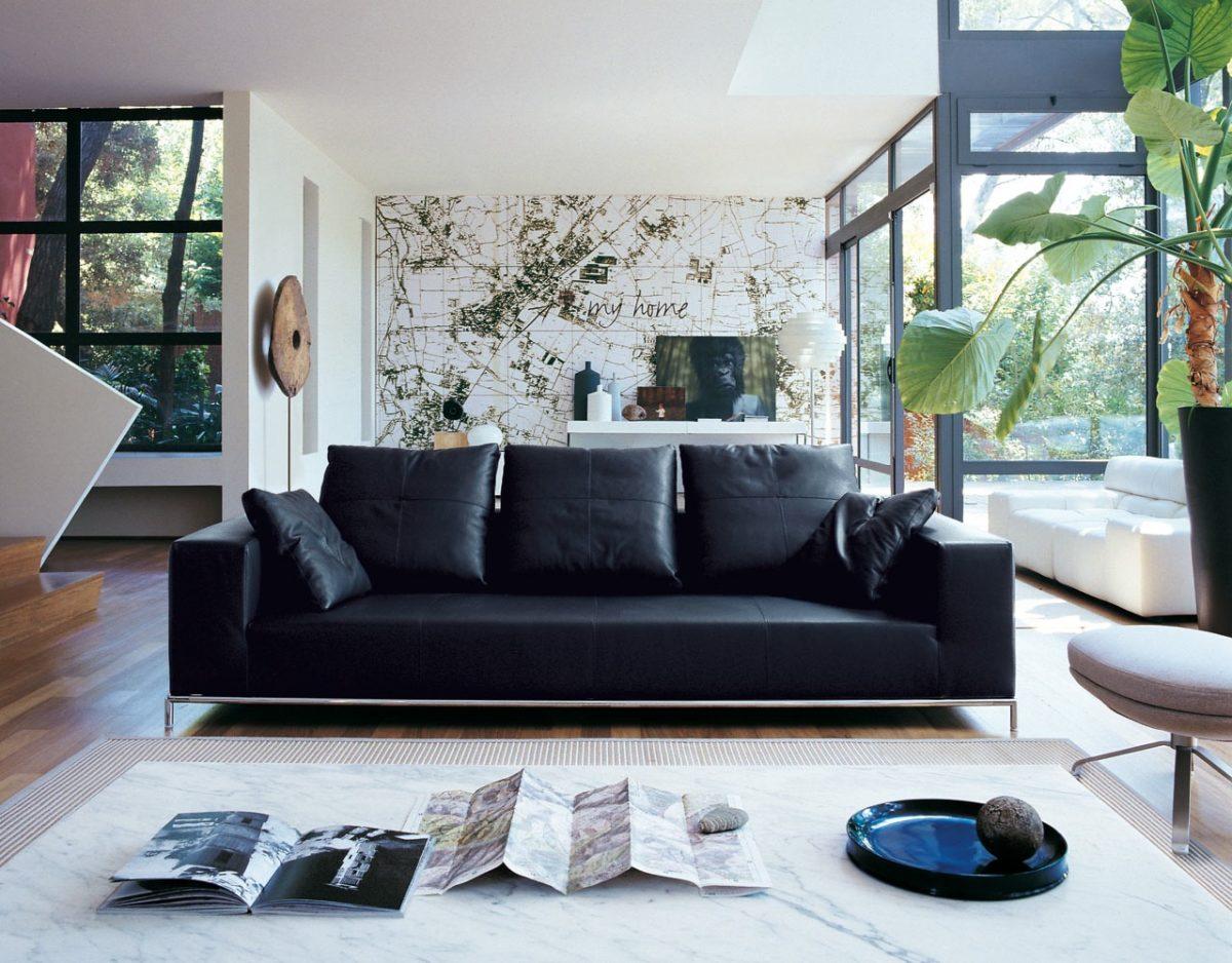 blu-acciaio-soggiorno-divano