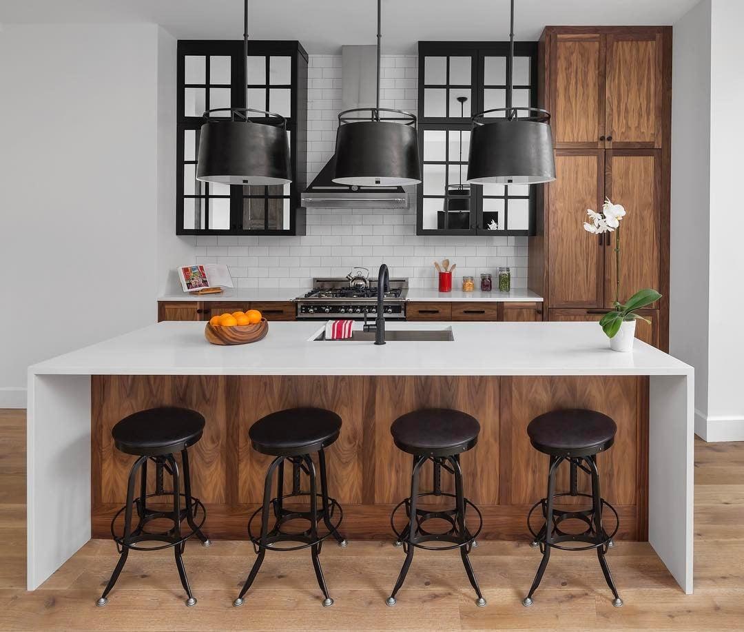 cucina-americana-bancone-sgabelli