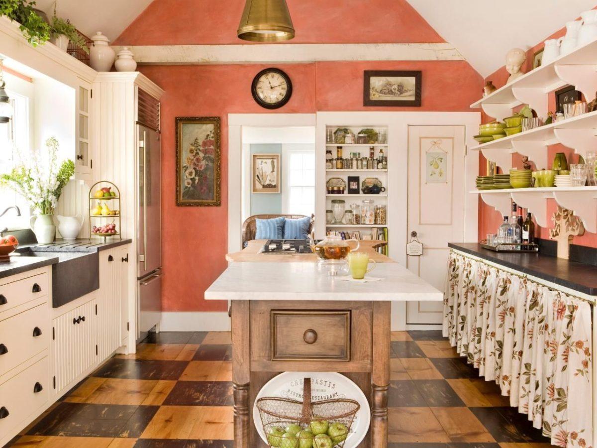 cucina-color-aragosta-rettagolare