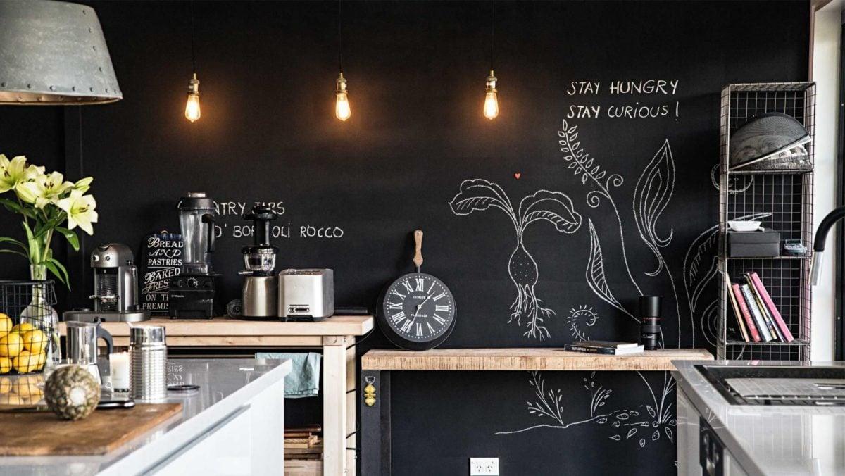 Vernice Lavagna Magnetica Colorata le proposte più intriganti per la cucina effetto lavagna