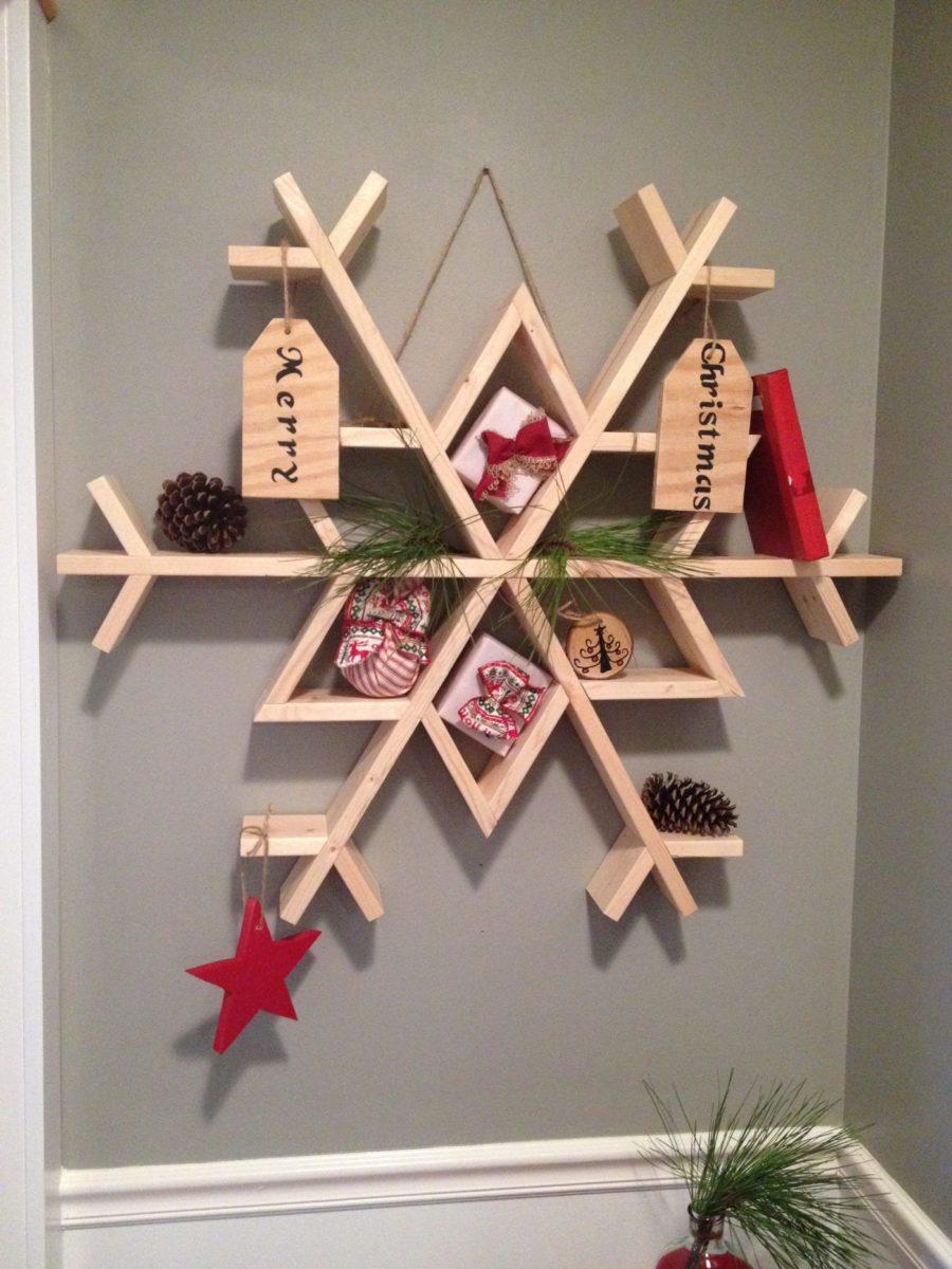 decorazioni-natalizie-legno-libreria