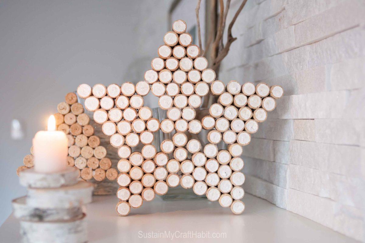 decorazioni-natalizie-tappi-sughero-stella