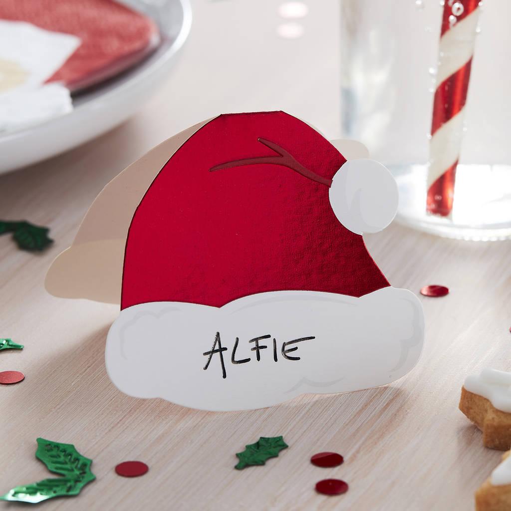 segnaposti-natalizi-originali-cappellino