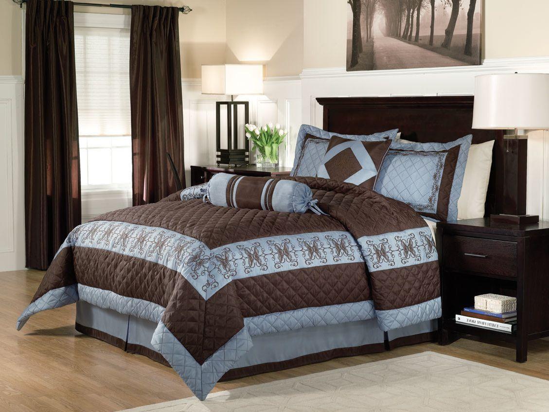 camera-letto-beige-abbinamento-marrone