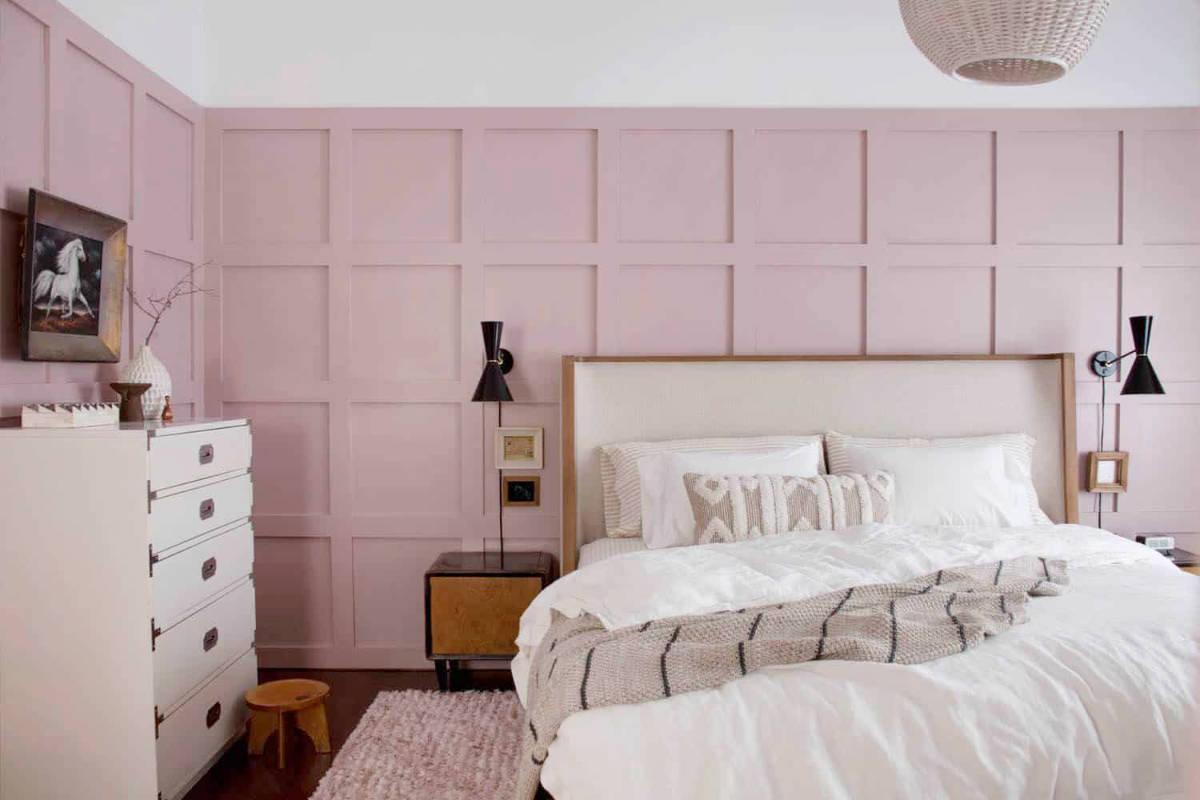 camera-letto-rosa-pastello-giovanile