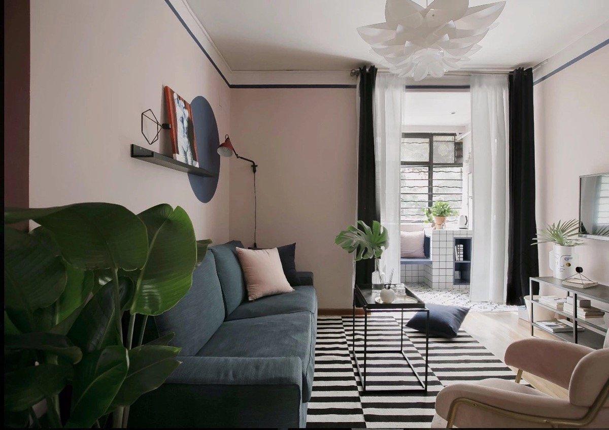 color-aragosta-soggiorno-abbinamento-nero