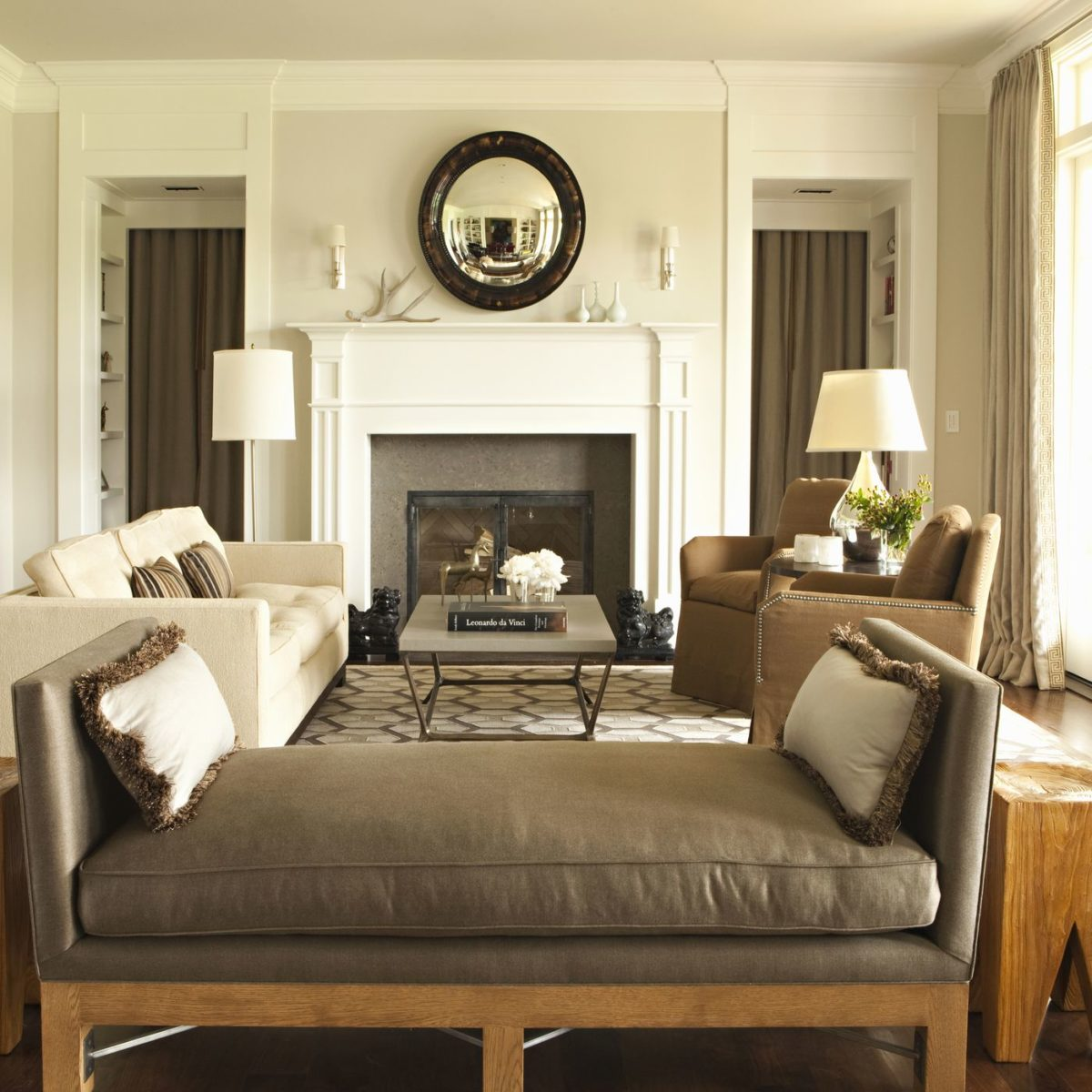 color-kaki-soggiorno-classico-lusso