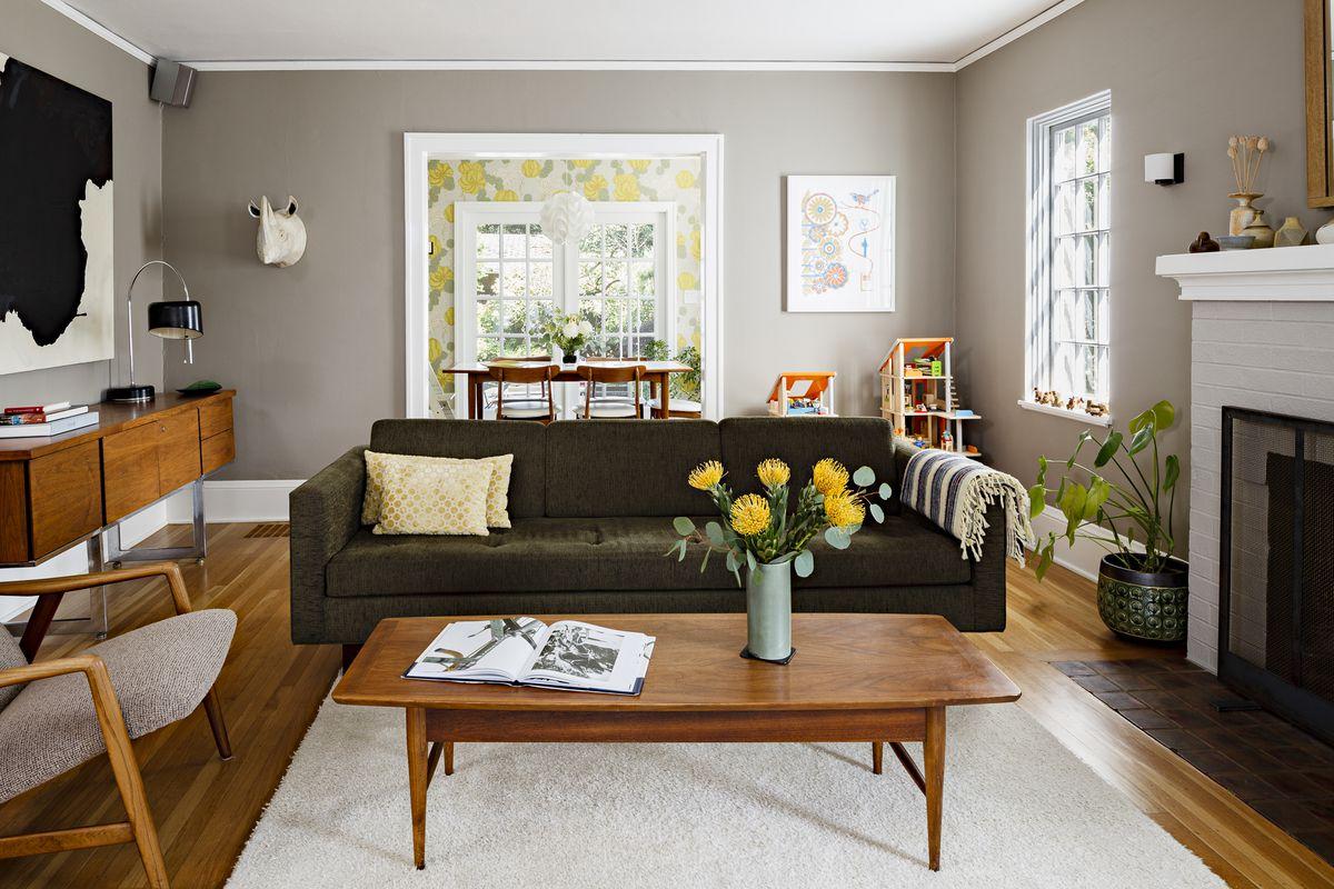 color-kaki-soggiorno-classico