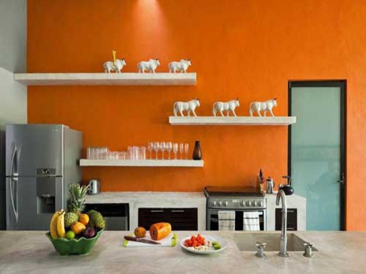 cucina-arancione-bruciato
